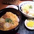 Photos: とり五鉄。親子丼&きしめん。もちろん名古屋コーチン! 堪能した~。