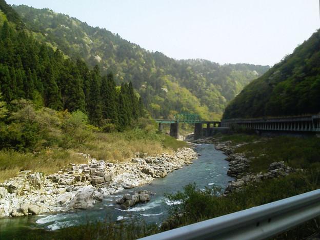 R41-03 JR第二益田川橋梁が見えてきた