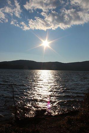 芦ノ湖の夕日
