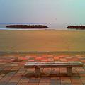 海とベンチ-2(デジハリ)