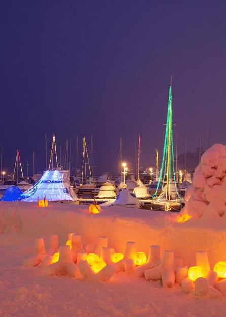 Snow marina