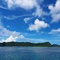 西表島と白い雲