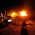 写真: 焚き火