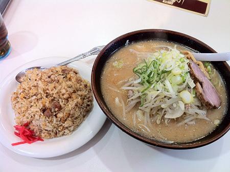 らーめん味坊 味噌+半チャーハン