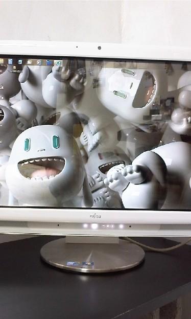 写真: このスクリーンセーバー怖い...