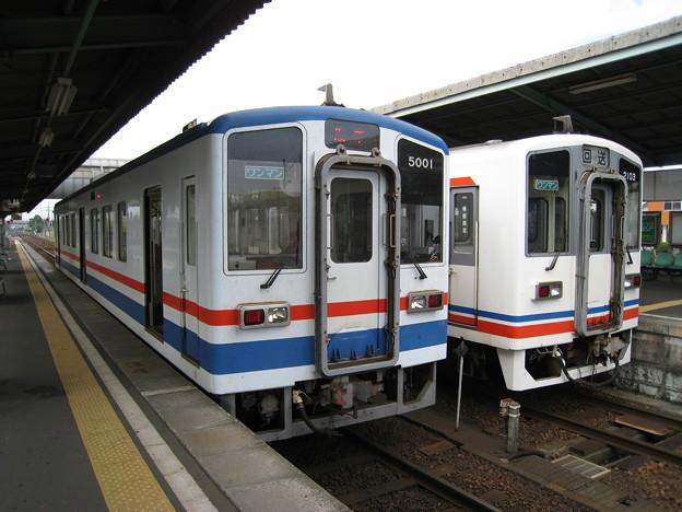 関東鉄道常総線 キハ5000形、キハ2100形 水海道駅