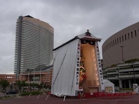 30 博多祇園山笠 飾り山 福岡ドームとホテル 2012年 写真画像