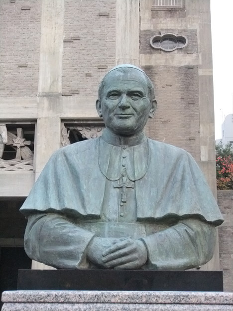 Bronze Statue of Pope John Paul II