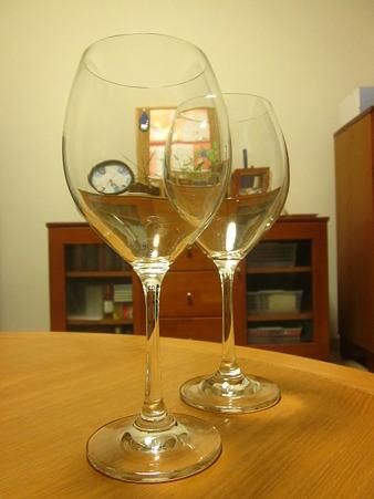 赤ワイングラス♪