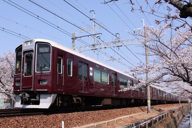桜と阪急2