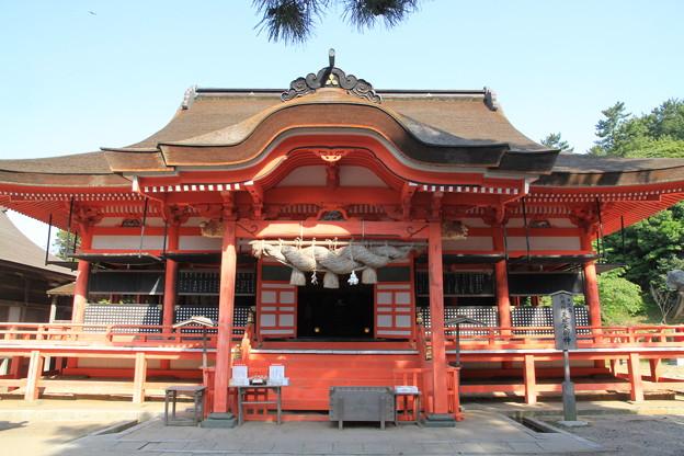 Photos: 110519-16四国中国地方ロングツーリング・日御碕神社・日沈宮拝殿