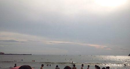 塩かぶ直前の海