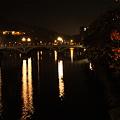 夜の浅野川  桜の紅葉