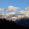 初冬の白山(3)   青空と雲に囲まれ