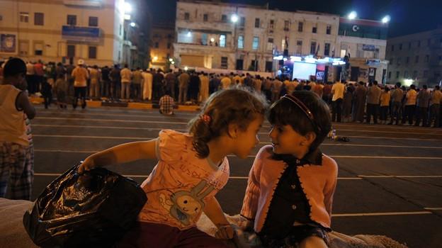 フリーダム広場の2人の女の子