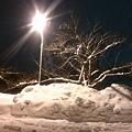 街路灯と雪景色 【1】