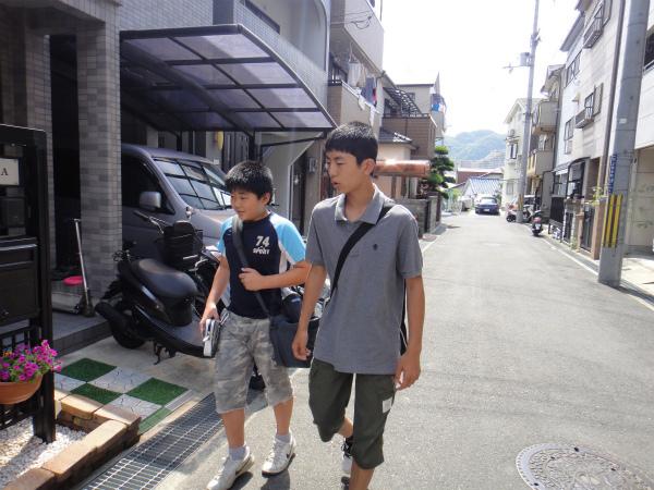 福島でレンタカーを借りている頃に家族は自宅を出発