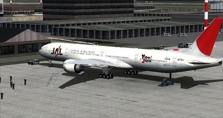 fsx 777-300 Yokoso!Japan塗装 リア