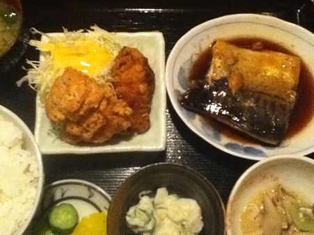 サバ煮付け定食 800円